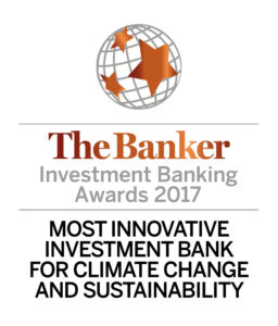 2017 - The Banker - BNP Paribas, Most Innovative Investment Bank for Climate Change and Sustainability (Logo)