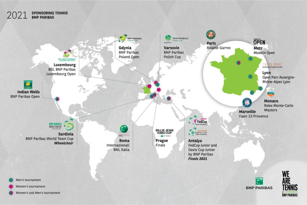 Map Sponsoring tennis tournaments 2021